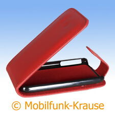 Flip Case Etui Handytasche Tasche Hülle f. Apple iPhone 3GS (Rot)