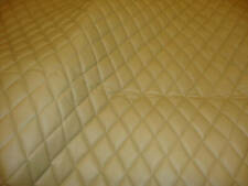 Vinyl Upholstery Camel diamond Quilted fabric with 3/8