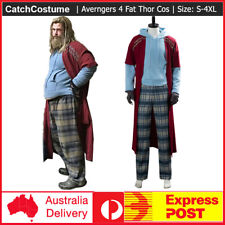 Avengers 4 Endgame Fat Thor Outfit Cosplay Costume Halloween Adult Male Suit