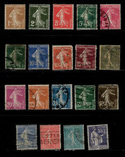 France 19 All Different Collection Lot Off Paper Used Unchecked Value   <A525>