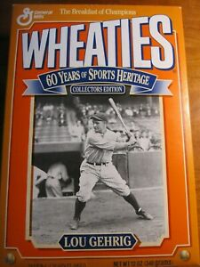 NEW Full Wheaties Box Lou Gehrig Collector's Edition *rp*