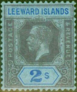 Leeward Islands 1922 2s Purple & Blue-Blue SG74 Fine Mtd Mint
