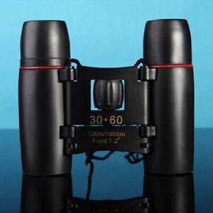 new Black Outdoor Sports Adjustable 30x60 Folding Zoom Binoculars Telescope