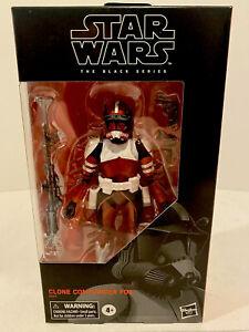 "Star Wars Black Series 6"" CLONE COMMANDER FOX (Exclusive) Hasbro Disney"