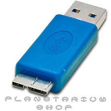 ADAPTADOR USB A MICROUSB 3.0 CARGAR TRANSMITIR DATOS SAMSUNG GALAXY S5 SV I9600