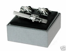 Classic Mini Car Cuff Links & Tie Bar Cufflinks