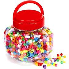 Perles Plastique assorties styles dans un Barrell 1200