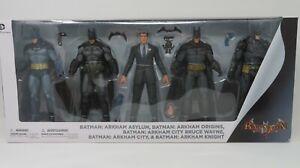 DC COLLECTIBLES GENTLE GIANT STUDIOS BATMAN ARKHAM SERIES 5 FIGURE COLLECTOR SET