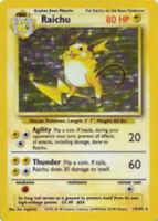 Pokemon 1x Lightly Played Holo Raichu - 14/102 - Holo Rare - Unlimited Edition B