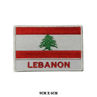 LEBANON National Flag Embroidered Patch Iron on Sew On Badge For Clothes etc