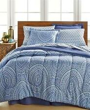 """8 Pc Ellison Nicole Reversible Bed-In-A-Bag ~ Queen 86"""" x 86"""" ~ Blue *New*"""