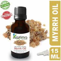 KAZIMA Myrrh Essential Oil- 100% Pure Natural & Undiluted For Skin & Hair Care