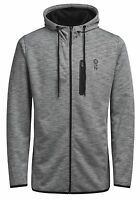 JACK & JONES New Mens Jesper Sporty Zip Up Hooded Top Sweat Hoodie Grey Melange