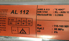 2,0 Kg Elektroden Aluminium 4047 Schweißen al Bogen 2,5 x350mm ALSi12 Werks