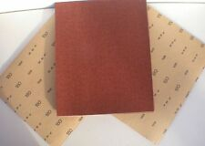 "Aluminium 180 Grit pk8 11""x 9"" Fine Red Oxide Paper sandpaper heavy paper sheets"