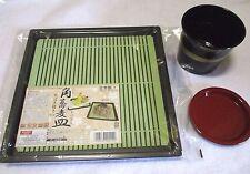 Zaru Soba Noodle Tray & Side Soup Vessel  SET WASHOKU Food Made In JAPAN