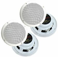 "4) NEW PYRAMID MDC7 6.5"" 480W Marine/Boat Speakers Waterproof Outdoor White"