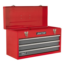 LAST FEW! Tool Chest 3 Drawer Red Grey TOOLBOX TOOL KIT Ball Bearing Slides