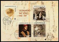 ITALIA 2019 Foglietto 500° Anniversario Morte di Leonardo da Vinci Usato