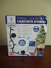 Innovative Technology Bright Tunes String Lights W/4 Bluetooth Speakers Nib
