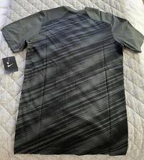 Nwt 2Xl Nike Exclusive Mesh Dri-Fit Training Tshirt Charcoal Striped Graphic New