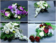 Hochzeit Deko Brautauto Autoschmuck Hochzeitsauto Strauß Kunstblumen Braut LA02