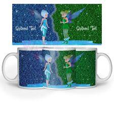 Tinker bell Printed Glittery Effect Mug Optional Text/Name coffee,tea Gift 11oz