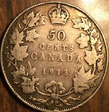 1913 CANADA SILVER 50 CENTS COIN
