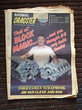4-26-85 National Dragster NHRA Drag Racing Keith Black Jim Van Cleve Woosley VW