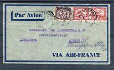 Interessanter Luftpostbrief Indochina mit Mischfrankatur - b1545