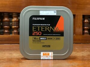 fujifilm 16mm ETERNA 250 8653 tungsten 400ft (122m) motion picture film (seal)