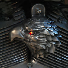 Aged Aluminum Eagle Horn Cover With Led Eye - Harley Davidson - EAG-HBL-2