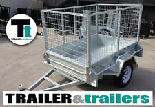 6x4 GALVANISED CAGE TRAILER | SINGLE AXLE | 3FT CAGE | NEW RIMS & TYRES | SPARE