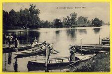 cpa France 27 - LE GOULET (Eure) Plaisirs d'été Promenade Barques Pêche Baigneur