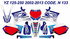 N133 YAMAHA YZ 125-250 2002-2013 Autocollants Déco Graphics Stickers Decals Kits