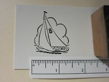 "Printing Letterpress Printers Block, Printers Cut, ""Sailboat 8"", Zinc"