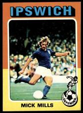 72 Topps Foootball 1975 Red//Grey B1 Clive Woods Ipswich Town No
