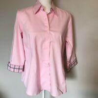 Maternity Blouse Pink Size M 3/4 Sleeve