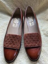 Vintage Ferragamo Leather Shoes, Size 7B, Brown