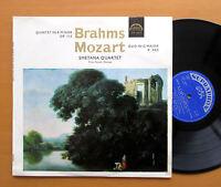 SUA 10677 Brahms Quintet Mozart Duo Smetana Quartet 1965 NM/EX Supraphon Mono
