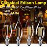 10x E14 4W 8W Edison Retro Filament C35 LED Bulb Vintage Candle/Flame Light Lamp