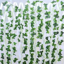 Artificial Ivy Leaf Plants Fake Hanging Garland Plants Vine Home Decor 12PC/5PC