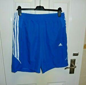 Mens Adidas Blue Climalite Shorts - Size UK M (NBWT)