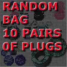ear gauges ear plugs 10 random pairs choose size