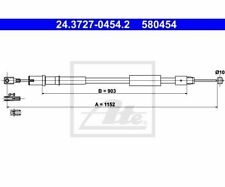 ATE Cable, parking brake 24.3727-0454.2
