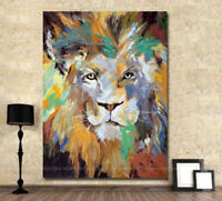 ZOPT262  100% hand painted color animal lion modern art OIL PAINTING ON CANVAS
