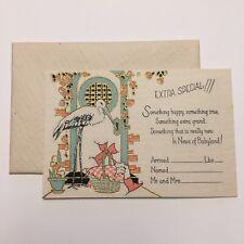 Unused Vintage Art Deco Greeting Card~Birth Announcement~1920s~Cincin nati Art