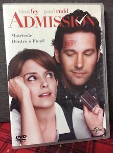 Admission DVD Tina Fey Paul Rudd Matricole Dentro o Fuori Come Da Foto