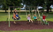 Super Disc Metal Swing Set Kids Playground Slide Outdoor Backyard Children Play