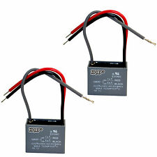 2-Pack Capacitor for Harbor Breeze Ceiling Fan 1uf+2uf 3-Wire CBB61 Replacement